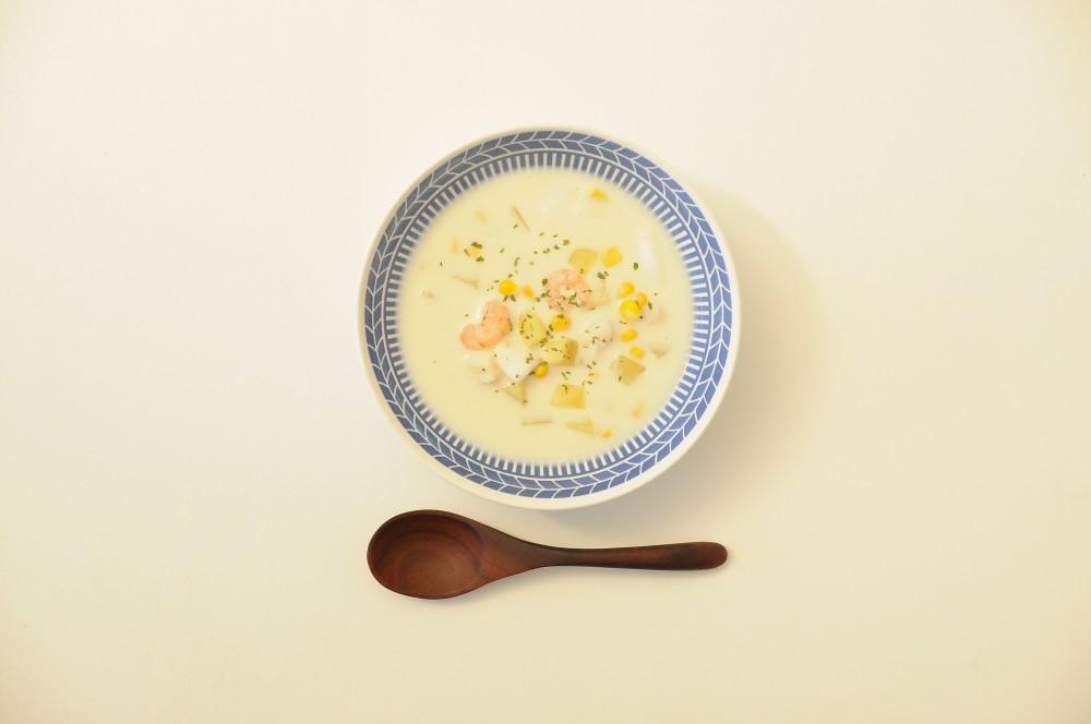 魚介の和風チャウダースープ